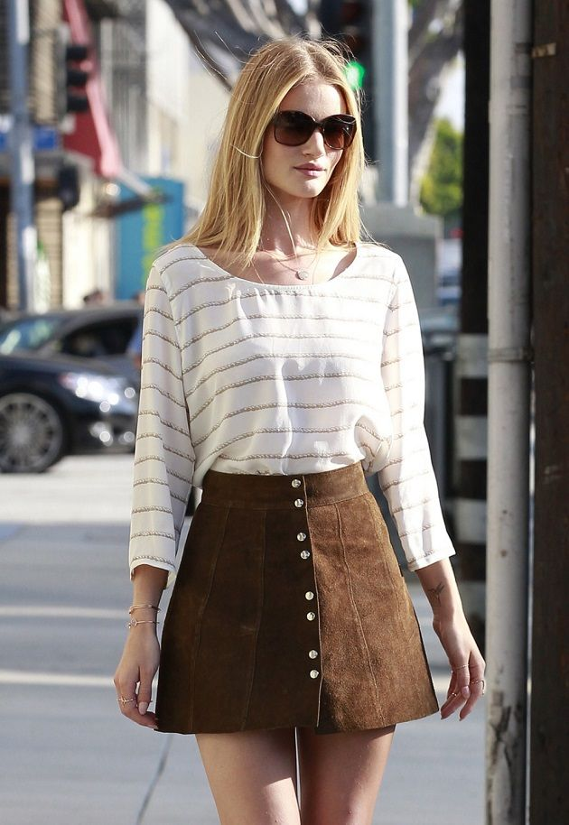BUTTON-FRONT SKIRT OUTFITS FOR SPRING TIME