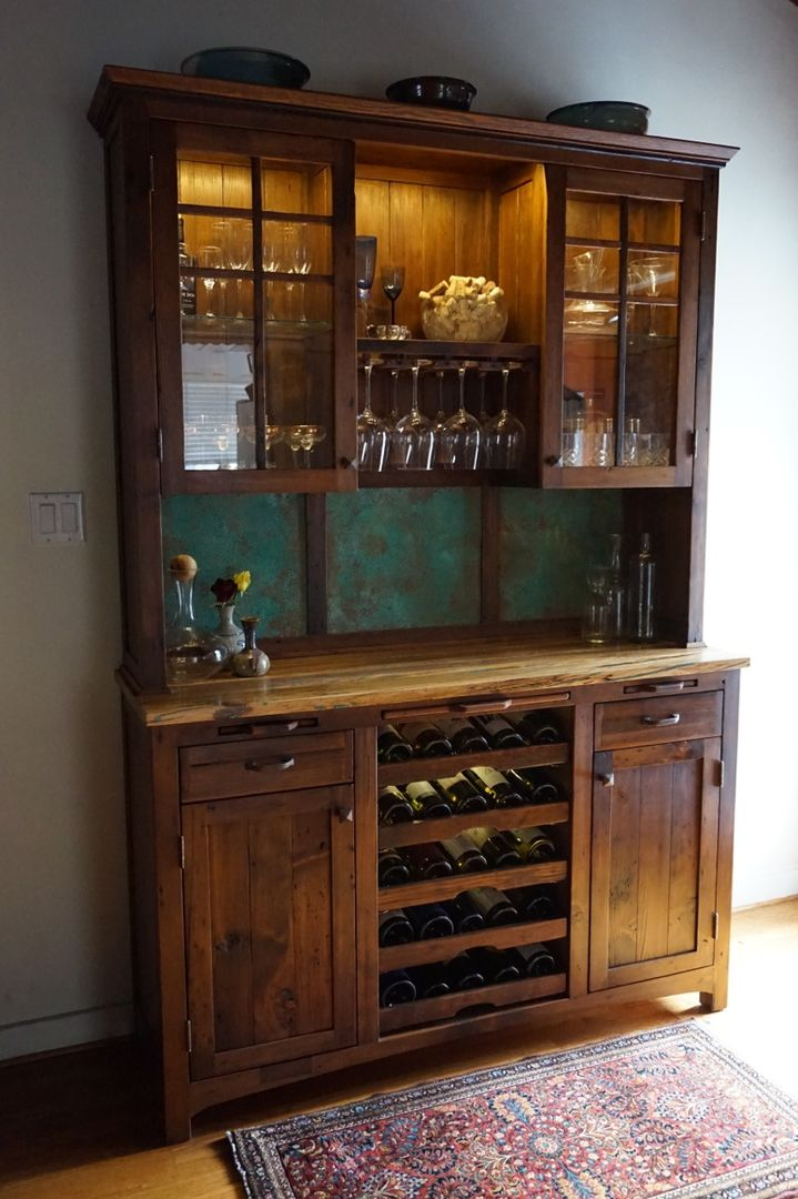 Kitchen hutch with wine rack cosmecol