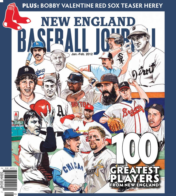 Artwork I Created For New England Baseball Journal S Special Edition Featuring The Top 100 Baseball Players From New E Baseball Baseball Art Baseball Painting