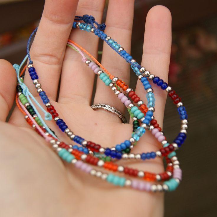 hand made beads bracelets, boho style