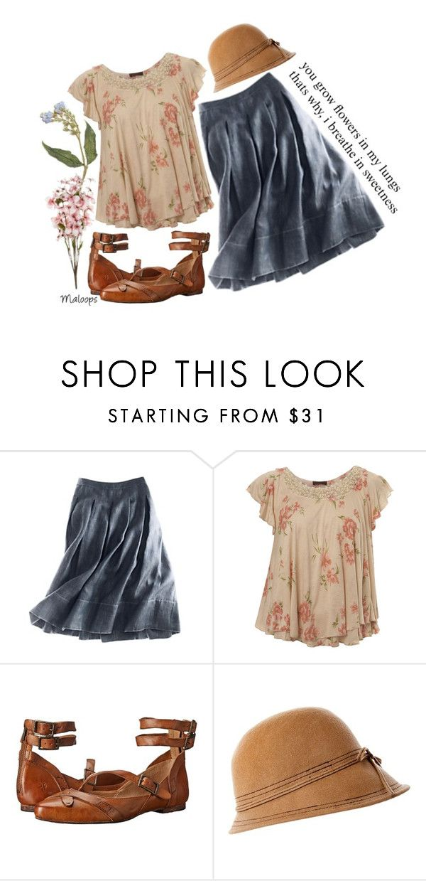 """""""//She seemed to walk in an atmosphere of things about to happen. -Anne of Avonlea, L.M. Montgomery//"""" by maloops ❤ liked on Polyvore featuring Talbots, Miss Selfridge, Frye, book, inspiration and anneshirley"""