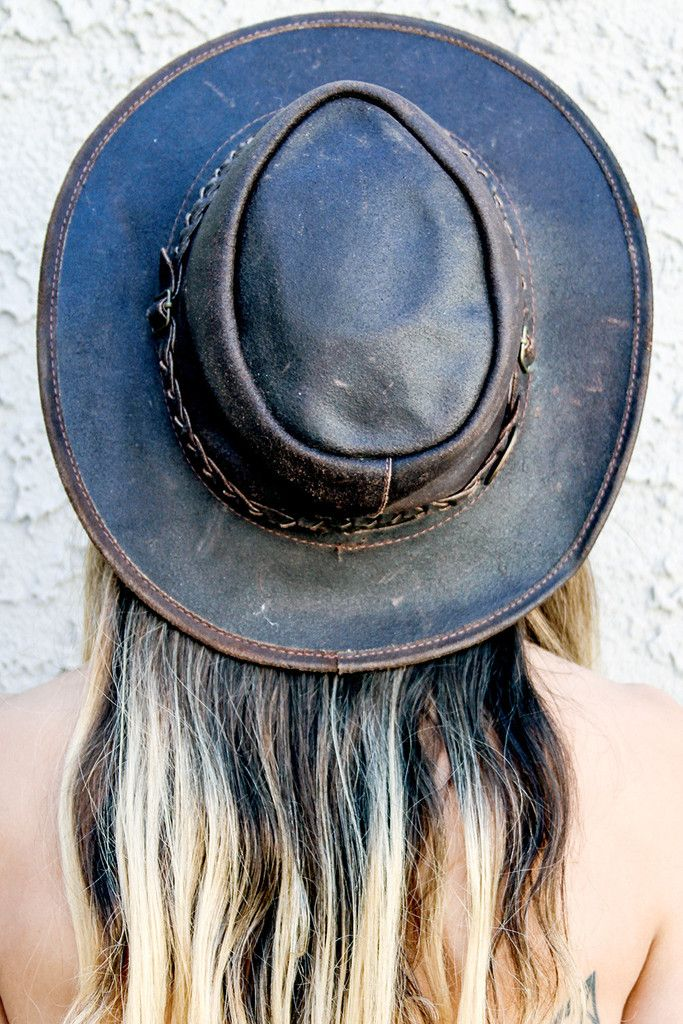 Festival Hopper Leather Hat by BACKBITE