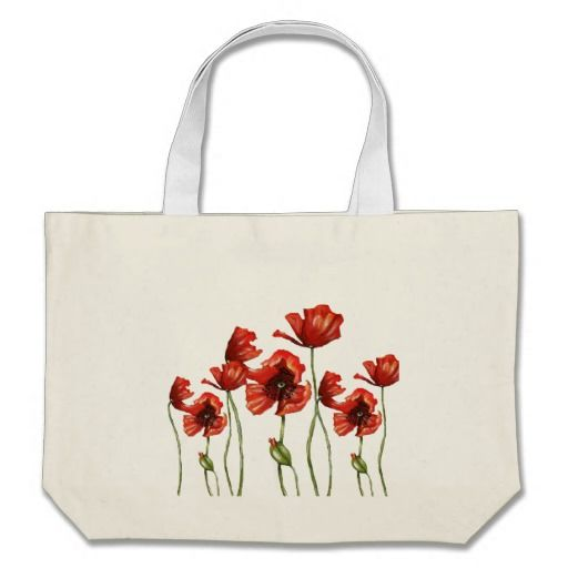 Pre-BLACK FRIDAY #SALE --- Red Poppies Floral Design Large Tote Bag reduced from $24.90 to an incredible $14.94!!! Stock running out fast - sale ends soon...  #poppy #bag #blackfriday
