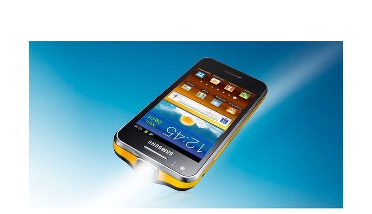 Samsung GALAXY Beam - Samsung Mobile has a built in projector