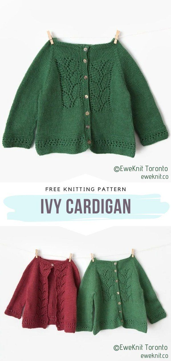 Chic Baby Cardigans Free Knitting Patterns in 2020 | Baby