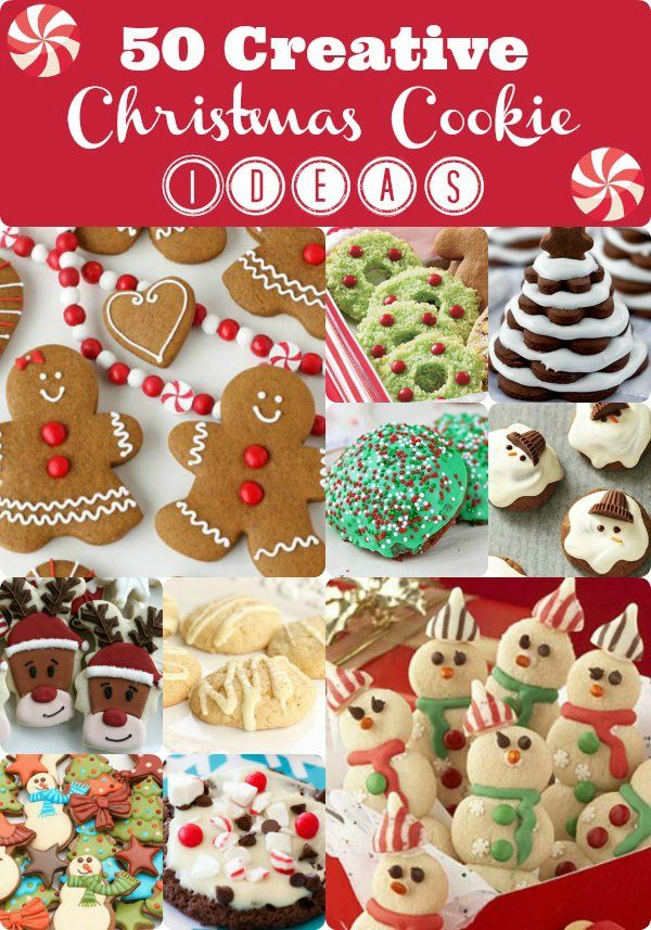 50 Creative Christmas Cookie Ideas, because my Jewish child is convinced we need to make Christmas cookies