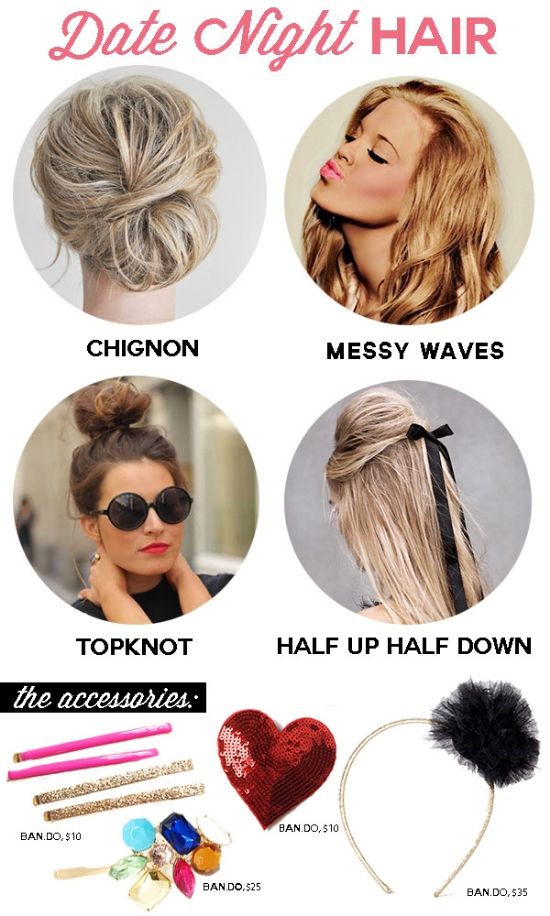 Get the Look: Date Night Hair. Love these looks! #datenight #penningtons #hairstyle