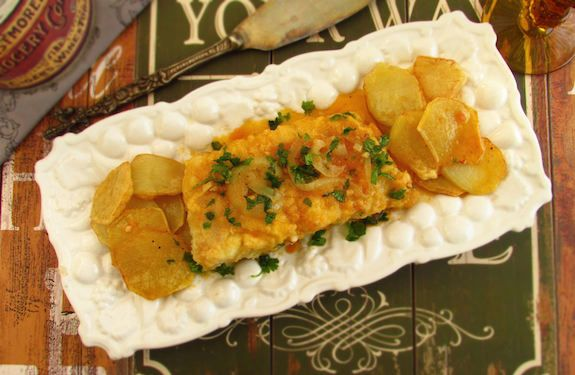 Fried cod with tomato sauce   Food From Portugal