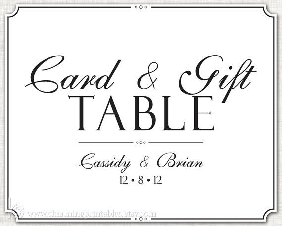 ... Wedding Collection Wedding Pinterest Gift table signs, Signs an