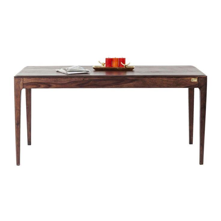Kare Design - Table Brooklyn walnut 160x80cm 76 cm x 80 cm x 160 cm - pas cher Achat / Vente Tables à manger - RueDuCommerce