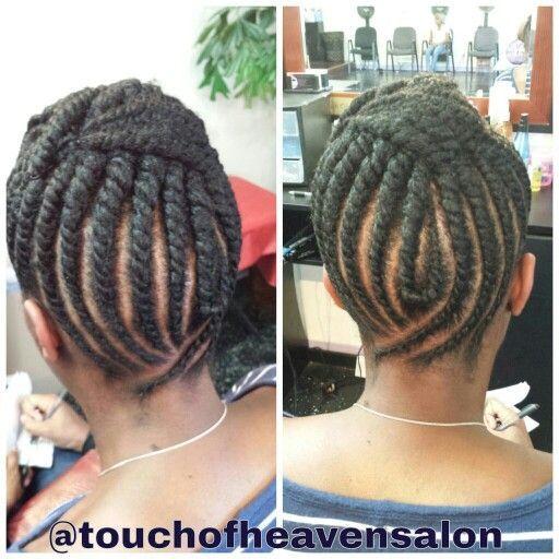 Flat twist updo | Natural hair styles | Pinterest