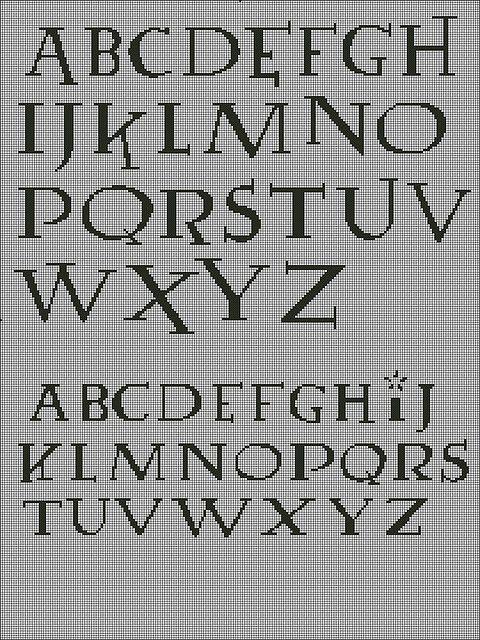 Harry Potter cross stitch font