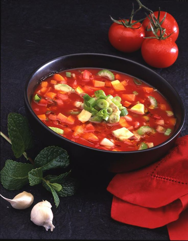 Living Soup Fridays!  Here's a really good living soup recipe that is like the classic Gazpacho.  Living Soups are a great way to lose weight! You are filling yourself up with blended raw foods and then to make it crunchy, we put a lot of ...See More