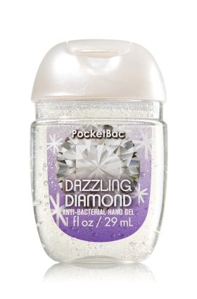 Dazzling Diamond - PocketBac Sanitizing Hand Gel - Bath & Body Works - Now with more happy! NEW PocketBac is perfectly shaped for pockets & purses, making it easy to fight germs on-the-go! Plus, our all-new skin softening formula contains powerful germ-killers that keep your hands clean & soft.