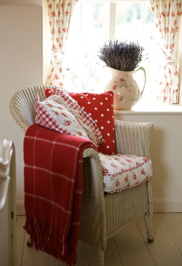 Cane chairs with cushions - Lavender Cottage In Country Homes And Interiors Busybee
