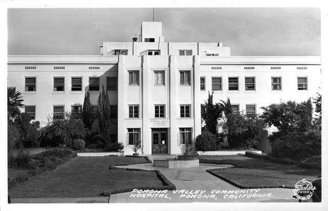 Pomona Valley Community Hospital, Pomona, California. Carolyn: My youngest brother was born here in 1957. I waved at my mom as she stood in the window. Children weren't allowed in the maternity ward.