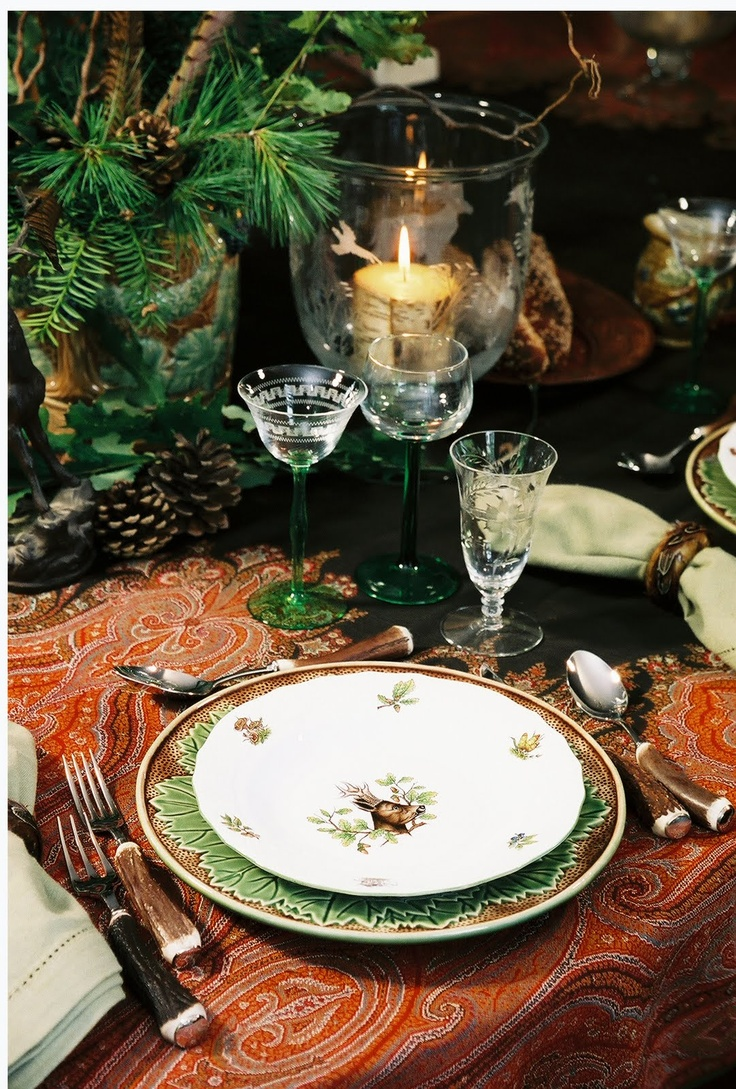 Beautiful table!  I think I'll send this stuff with Ben to deer camp.  The men would love it!  LOL