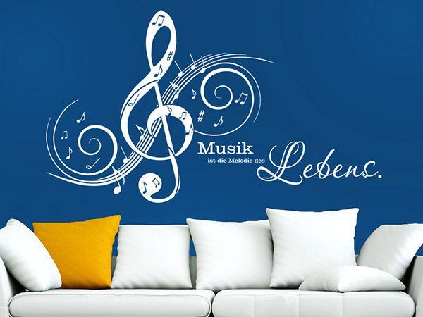 Wandtattoo Musik Ist Die Melodie Des Lebens Wandtattoo Musik