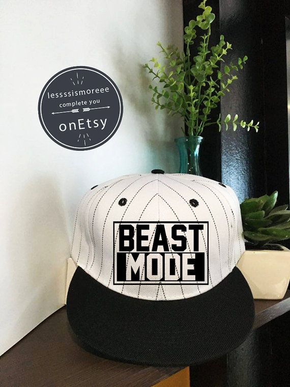 Beast mode SnapbackBaseball Hats Women's Fitness by Lessssismoreee