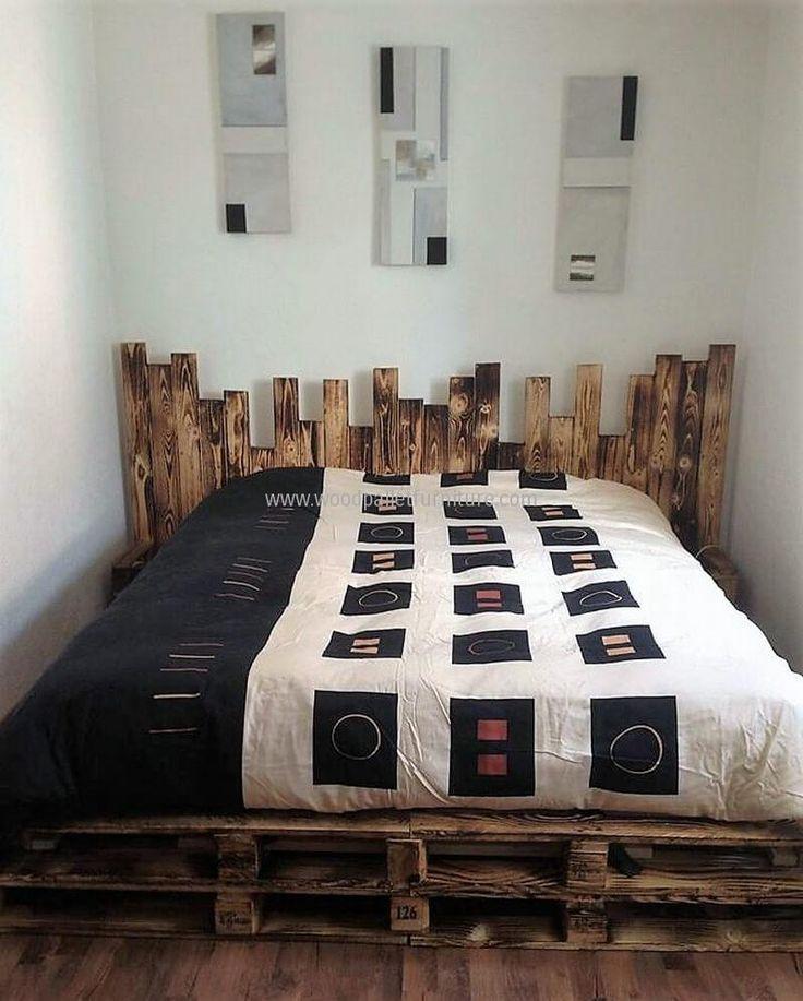 Best 25+ Wooden Pallet Beds Ideas On Pinterest