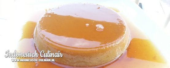 Puding Pisang Karamel - Pudding met banaan en karamel uit de oven