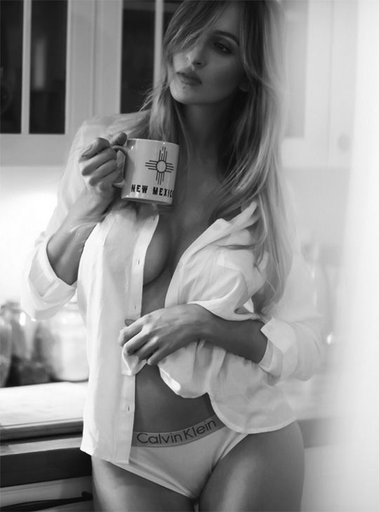 Phrase... super, naked woman drinking morning coffee