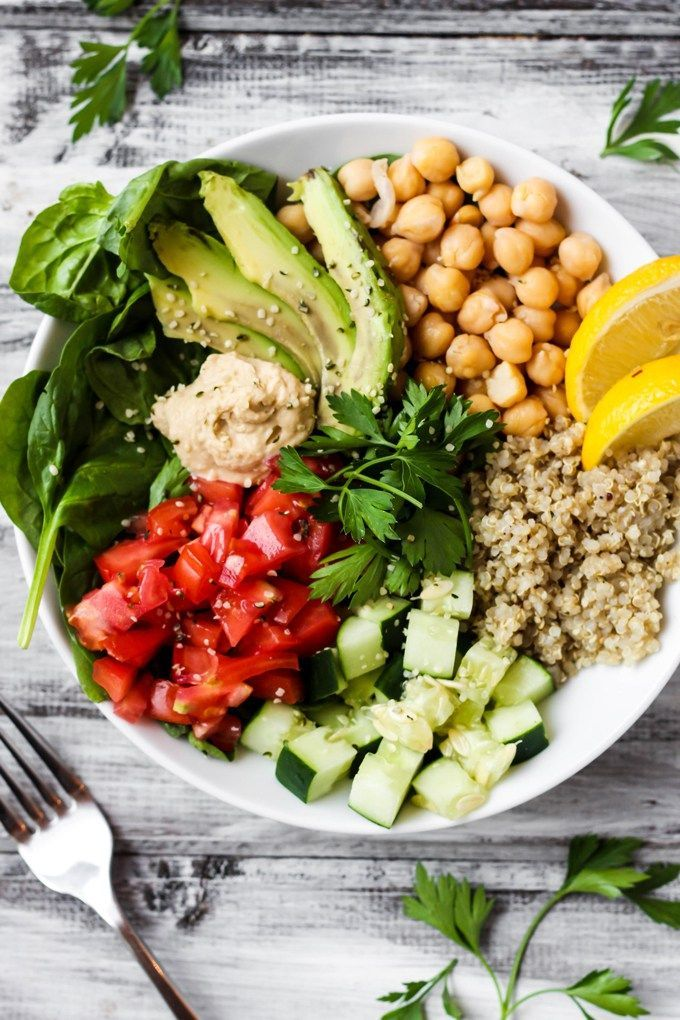 Full of greens and beans, this Greek Quinoa Buddha Bowl is the ultimate healthy lunch or dinner. It's ready in 20 minutes and packed with fresh flavors!