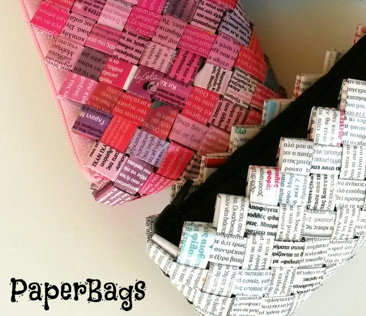 paperbags made of magazines