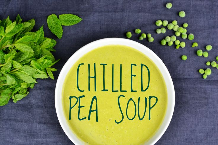 CHILLED PEA SOUP - do you wanna know why I'm jumping around like a crazy? go on and have a read! :)