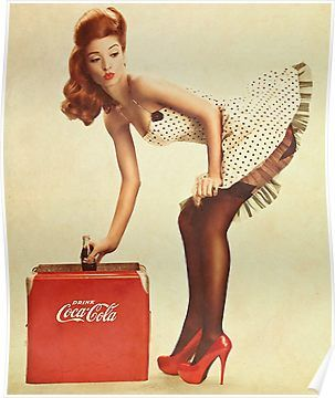 'pin-up girl coca cola' Poster by ivoxRS