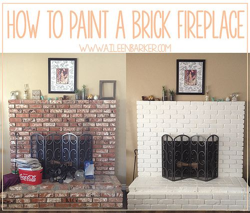 How To Paint a Brick Fireplace by aileenbarker, via Flickr