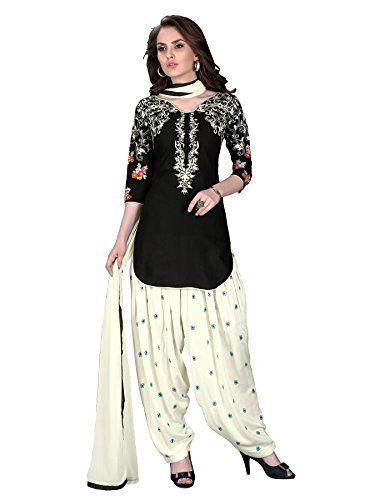 LOOK!! Ready Made Patiala Salwar Embroidered Cotton Salwar Kameez Suit India/Pakistani Dress OF 9001