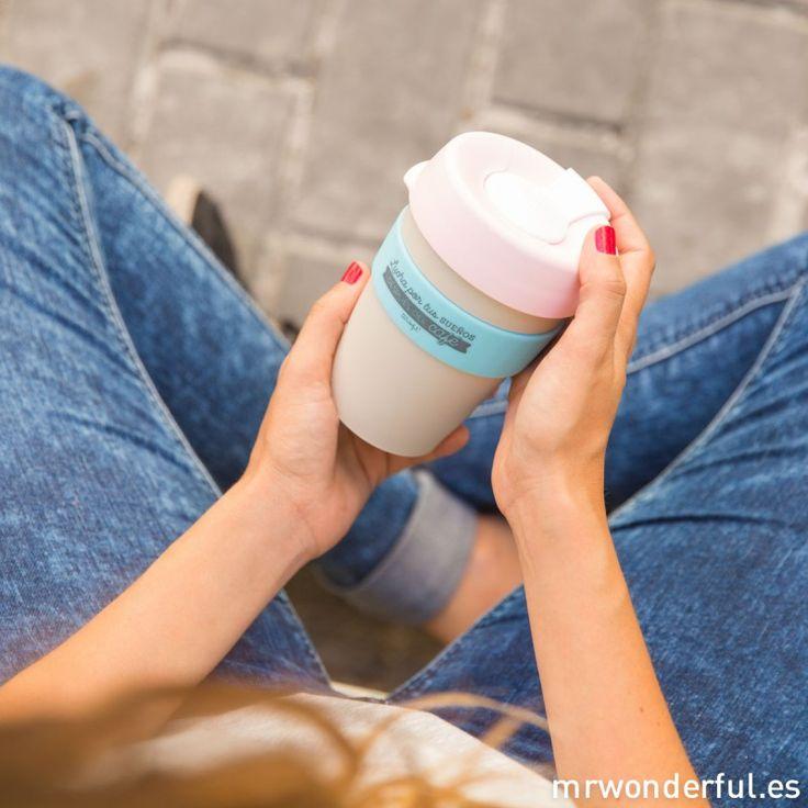 """KeepCup """"Lucha por tus sueños después del café"""" #keepcup #mrwonderfulshop #coffee #design"""