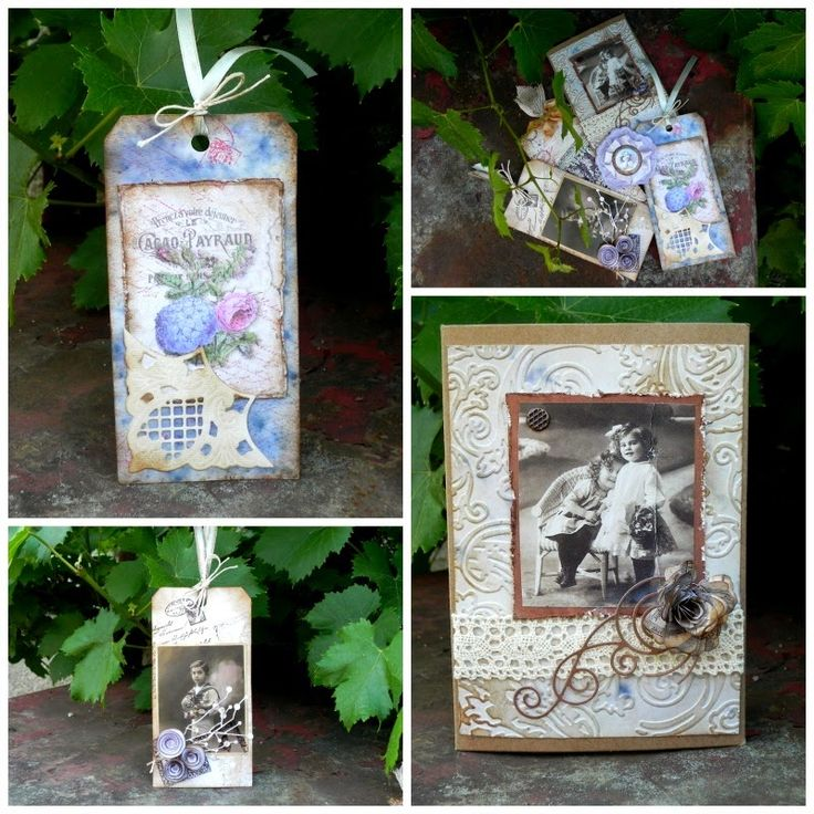 Vintage tags and card