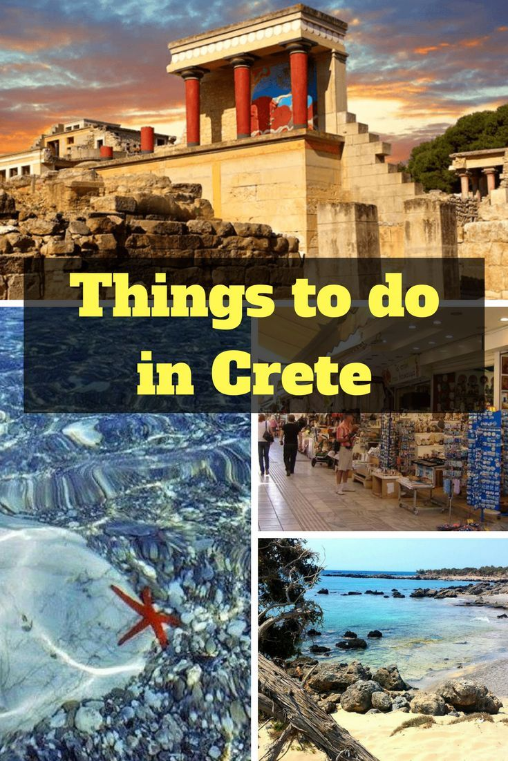 If you are planning your holidays and would like to go somewhere that has sun, sea, sand, culture, and history, look no further than Crete. Crete is the largest Greek island, and boasts Blue Flag beaches, historic towns, and archaeological remains which date back thousands of years. There really is something for everyone to enjoy. Here are the top 5 things to do in Crete. #Greece #crete #greekislands #knossos