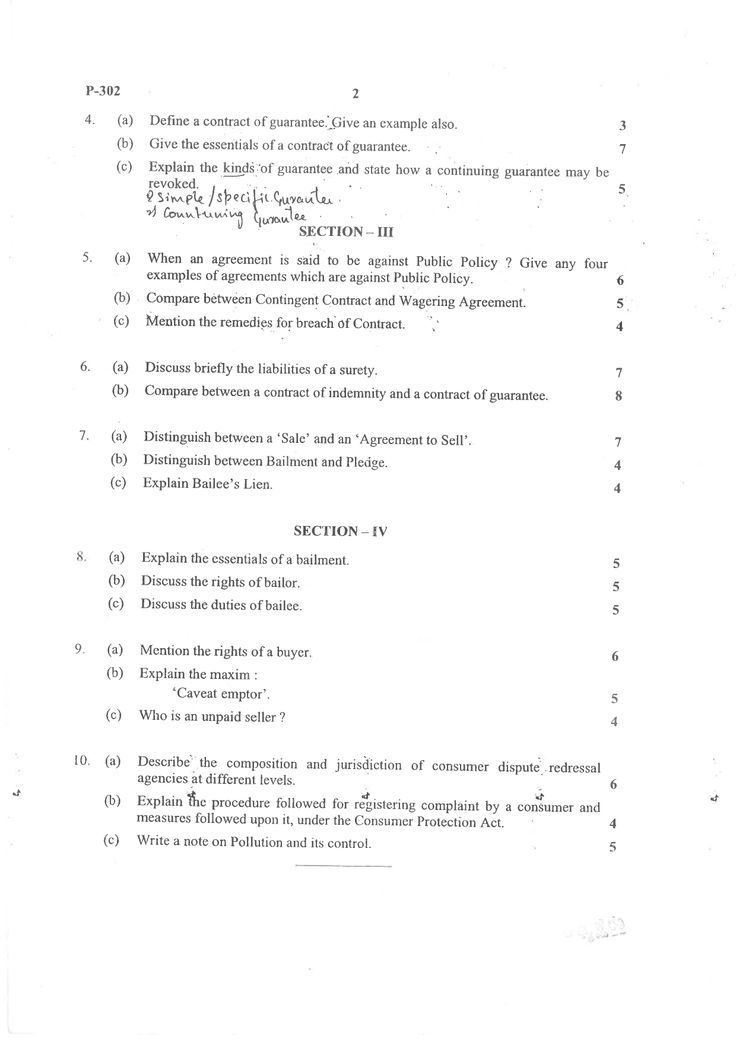 83 best Exam Question Papers (Karnataka) images on Pinterest - contract breaches remedies
