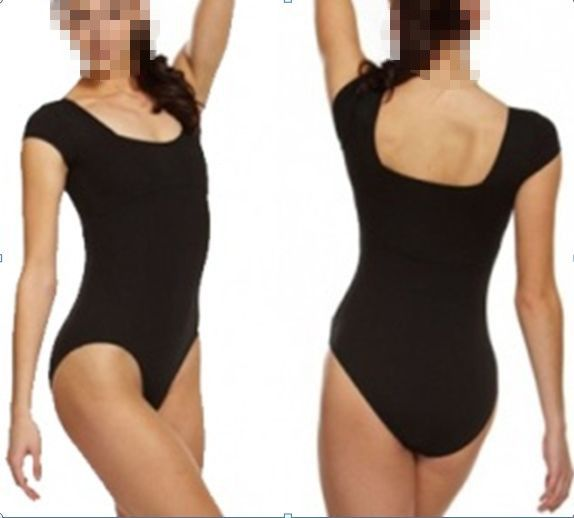 CL00070 Adult Black Dance Leotard Short Sleeve Tank women sexy leotard #adult_gymnastics_leotards, #black