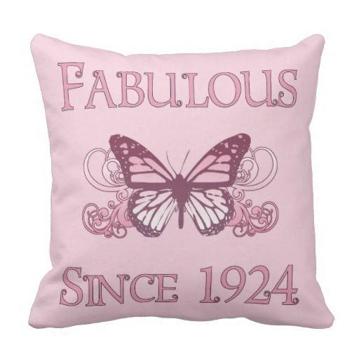 Fabulous Since 1924 Throw Pillow