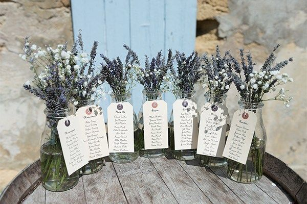 For their table plan, Shardae unleashed her creative side with the help of traditional milk bottles and lavender. 'I tied luggage tags with the names of each table and who was on it round the bottles,... more  and placed them on an old wooden barrel,' says Shardae.More from You & Your Wedding:100 gorgeous wedding venuesHigh street wedding dresses for under £1000 less