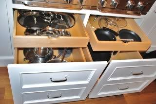 Drawer inside a drawerAbsolute Genius, Range, Deeper Drawers, Pots Drawers, Drawers Inside, Gas Cooktop, Cooktop Gas, Big Pots, 2Nd Floors