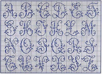 grille abecedaire point de croix a imprimer   Abecedaire point de croix, Point de croix ...
