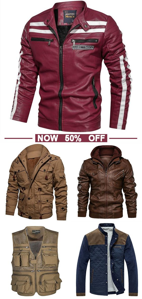 Mens Leather Jacket Now 50% OFF! Good quality! Use promo code 'CORACHIC8'! Shop now!