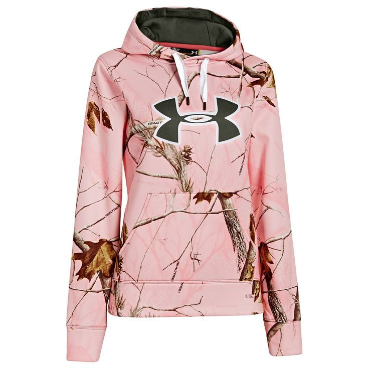 Under Armour Womens Camo Big Logo Pullover Hoodie