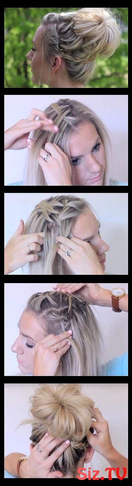 57 Ideas Hairstyles For Medium Length Hair With Headband Messy Buns 57 Ideas Hai...