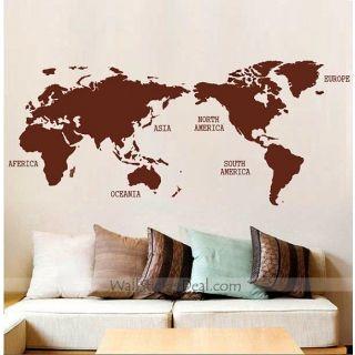 World Map Wall Sticker Part 92
