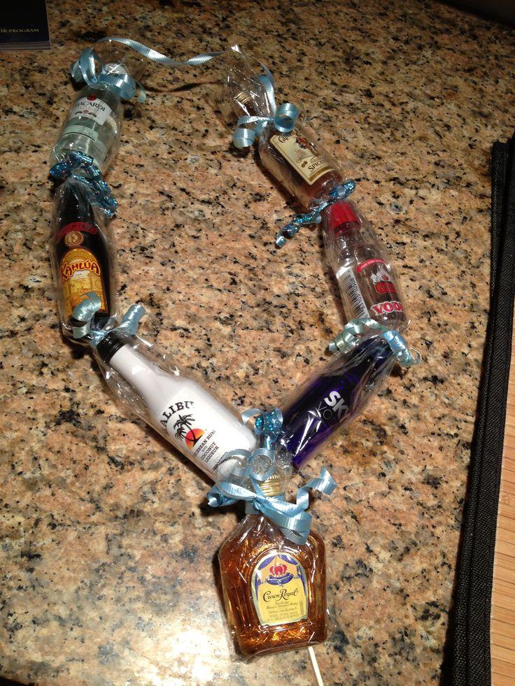 Mini liquor bottle necklace for birthday