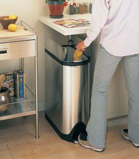 simplehuman(シンプルヒューマン) ペダル式ゴミ箱 バタフライカン ... ステンレス