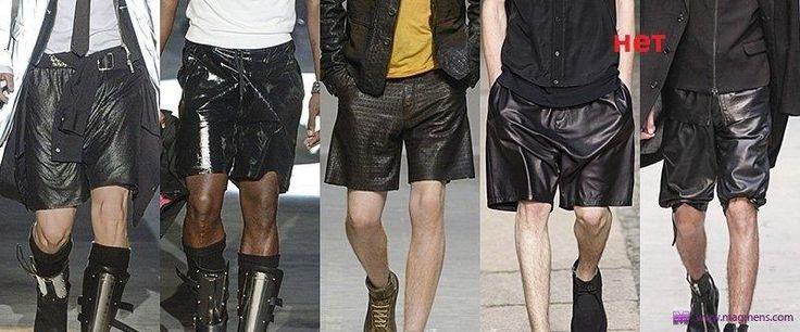 Мужские кожаные шорты