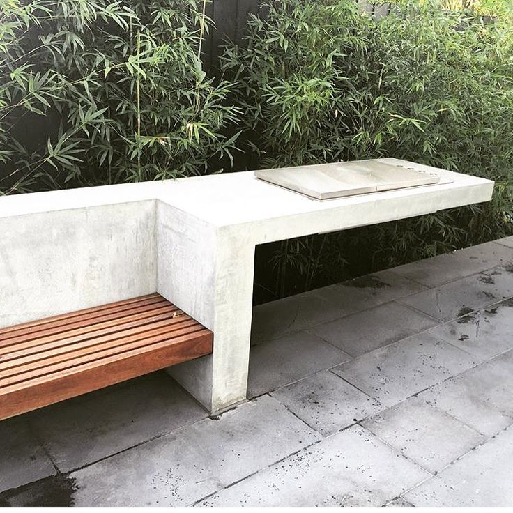 """Repost of this giant cantilevering #concrete bench we completed last year. Designed by @benscott_design .. It's really pushing the limits…"""