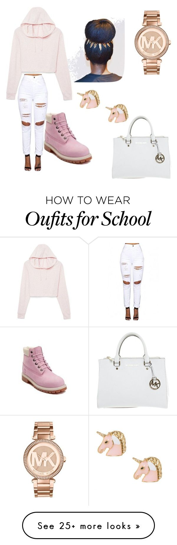 """""""Back To School"""" by samiahwatson02 on Polyvore featuring Timberland and Michael Kors"""